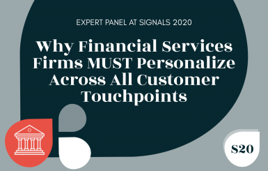 Why the financial services industry must personalize across all customer touchpoints